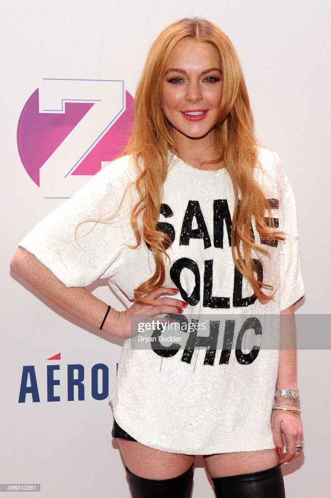 <a gi-track='captionPersonalityLinkClicked' href=/galleries/search?phrase=Lindsay+Lohan&family=editorial&specificpeople=171623 ng-click='$event.stopPropagation()'>Lindsay Lohan</a> attends Z100's Jingle Ball 2013, presented by Aeropostale, at Madison Square Garden on December 13, 2013 in New York City.