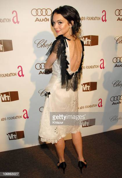 Lindsay Lohan during 14th Annual Elton John AIDS Foundation Oscar Party Cohosted by Audi Chopard and VH1 Arrivals at Pacific Design Center in...