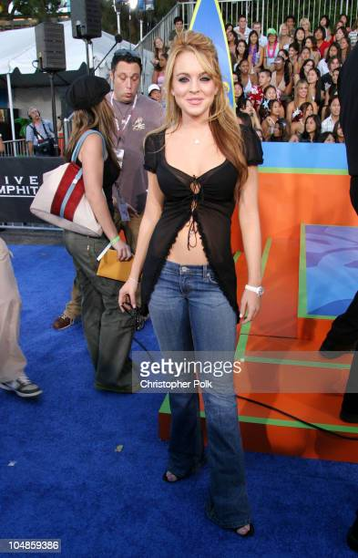 Lindsay Lohan during 2003 Teen Choice Awards Arrivals at Universal AmphiTheater in Universal City California United States
