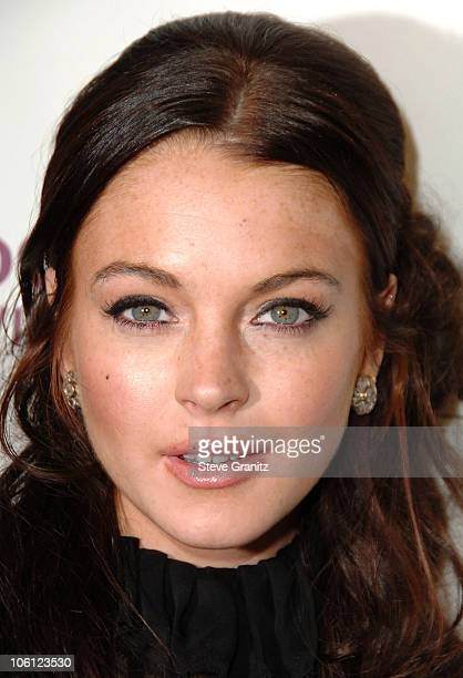 Lindsay Lohan during Hollywood Film Festival 10th Annual Hollywood Awards Press Room at The Beverly Hilton Hotel in Beverly Hills California United...