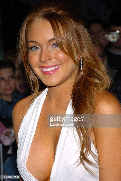 Lindsay Lohan during Mean Girls New York Premiere at Loews Lincoln Square Theatre in New York City New York United States