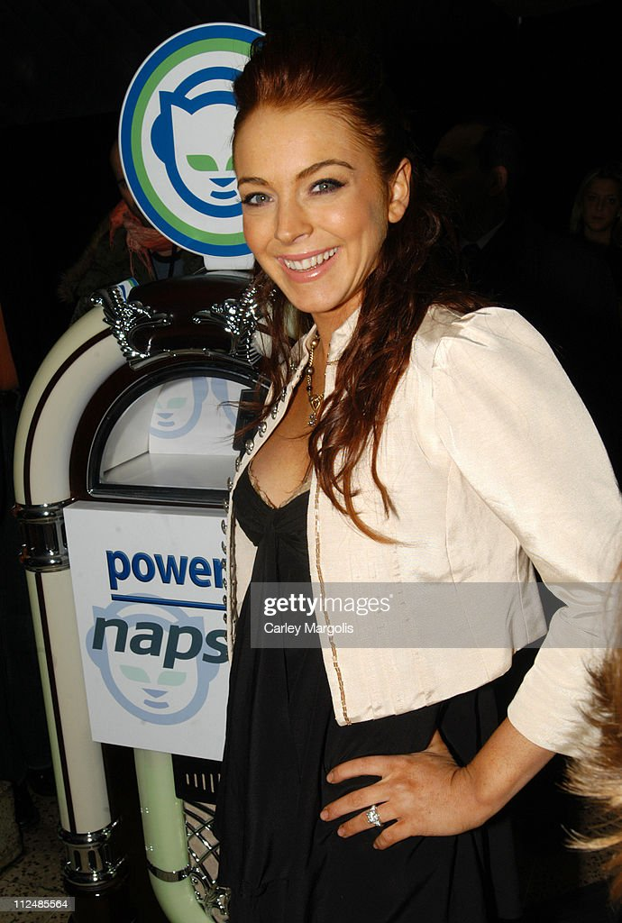 Lindsay Lohan during Napster Launches 'Napster To Go' Cafe Tour with Free Music and MP3 Players at The Coffee Shop in New York City, New York, United States.
