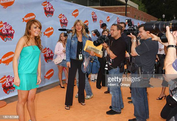 Lindsay Lohan during Nickelodeon's 17th Annual Kids' Choice Awards Arrivals at Pauley Pavillion in Westwood California United States