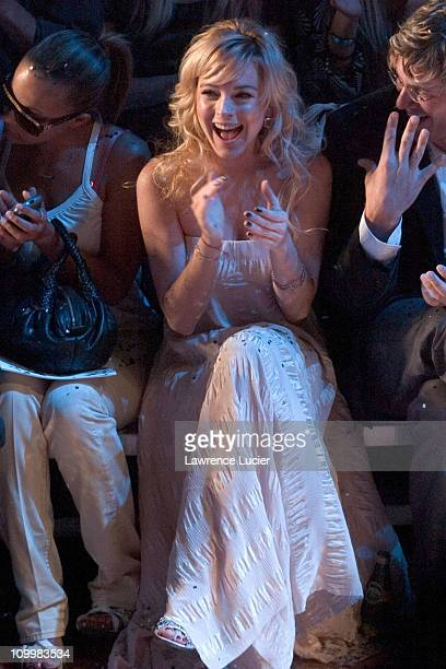 Lindsay Lohan during Olympus Fashion Week Spring 2006 Marc Jacobs Arrivals at New York State Armoury in New York City New York United States