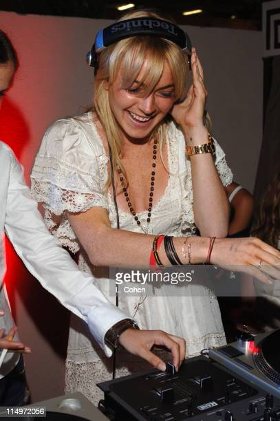 Lindsay Lohan during Teen People Celebrates 2nd Annual Young Hollywood Issue Sponsored by EA Games and Baby Phat Inside at Cabana Club in Hollywood...