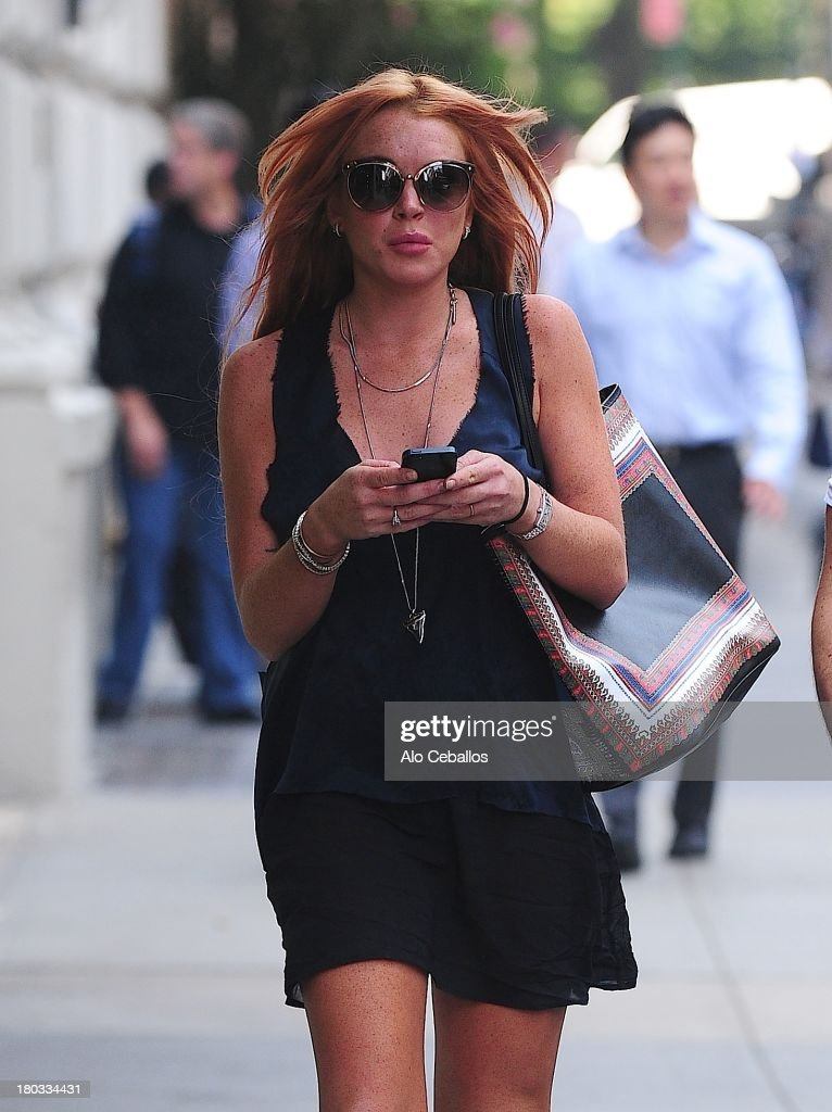 <a gi-track='captionPersonalityLinkClicked' href=/galleries/search?phrase=Lindsay+Lohan&family=editorial&specificpeople=171623 ng-click='$event.stopPropagation()'>Lindsay Lohan</a> is seen in Soho on September 11, 2013 in New York City.