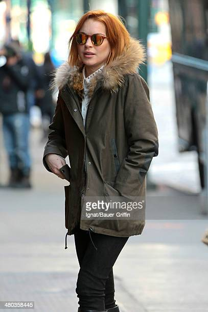 Lindsay Lohan is seen on March 24 2014 in New York City