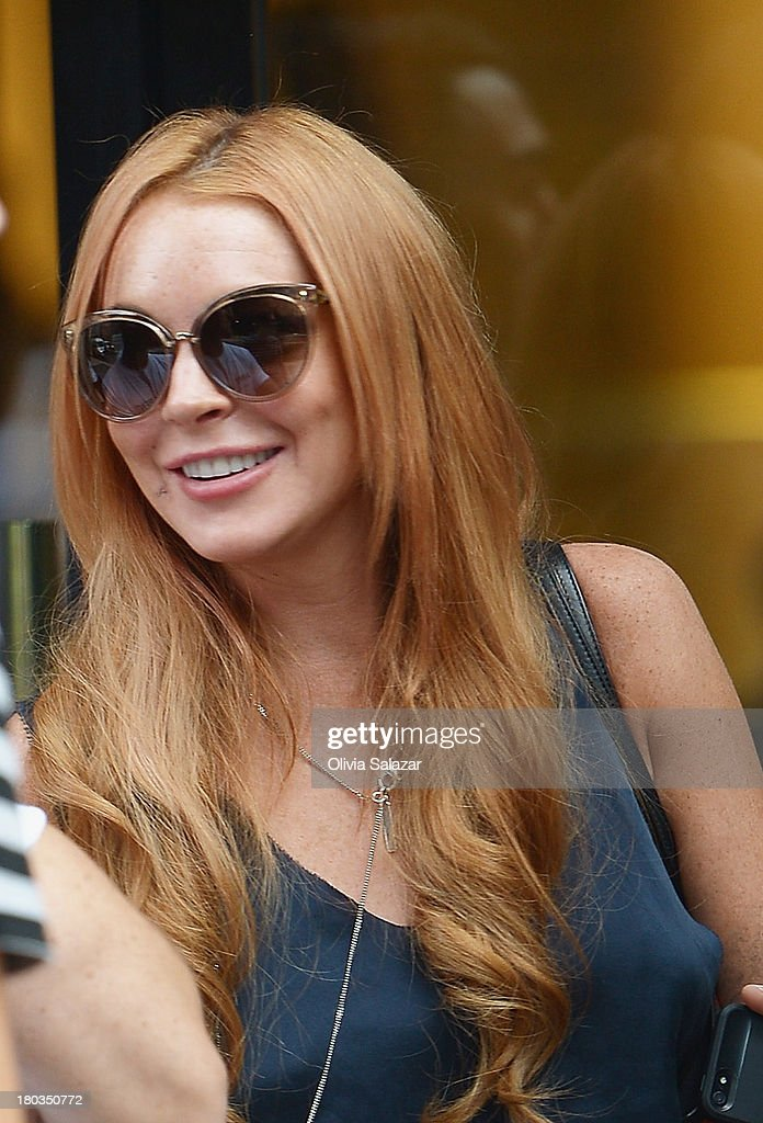 <a gi-track='captionPersonalityLinkClicked' href=/galleries/search?phrase=Lindsay+Lohan&family=editorial&specificpeople=171623 ng-click='$event.stopPropagation()'>Lindsay Lohan</a> is sighted on September 11, 2013 in New York City.