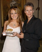 Lindsay Lohan Jamie Lee Curtis during CedarsSinai Medical Center's Teen Line Honors Jamie Lee Curtis With Humanitarian Award At Food For Thought...