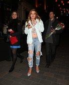 Lindsay Lohan leaving Cirque nightclub on April 15 2015 in London England