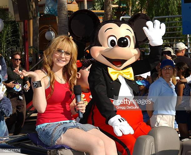 Lindsay Lohan Mickey Mouse during ABC Primetime Preview Weekend at Disney's California Adventure in Anaheim California United States