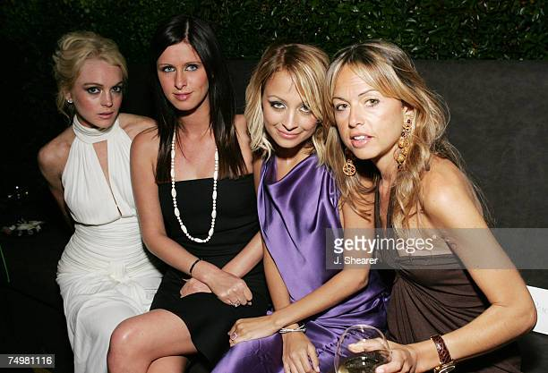 Lindsay Lohan Nicky Hilton Nicole Richie and stylist Rachel Zoe