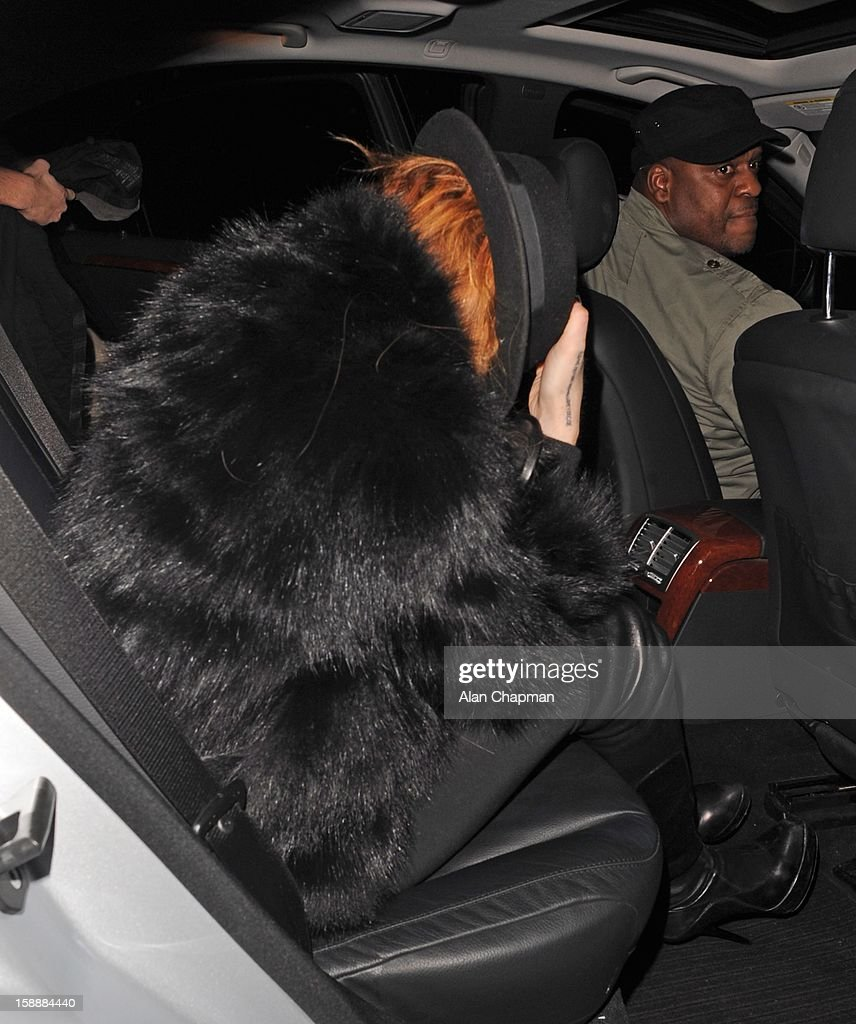 Lindsay Lohan sighting at Nozomi on January 2, 2013 in London, England.