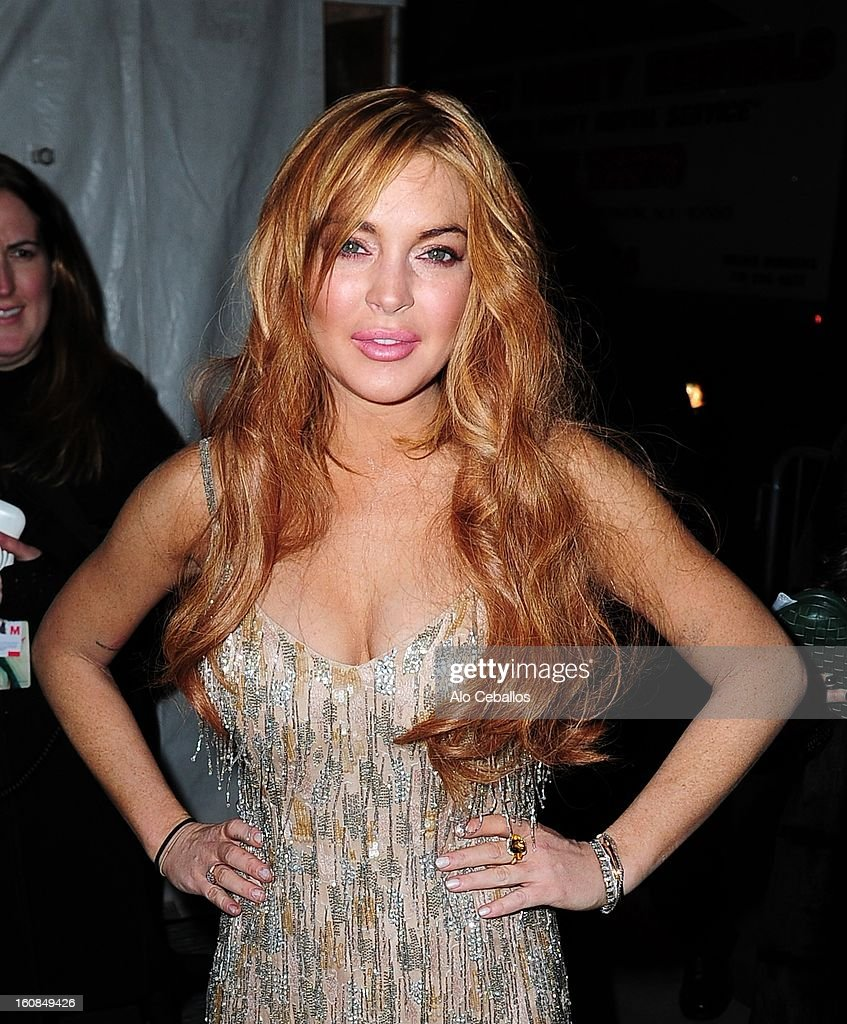 Lindsay Lohan sighting on February 6, 2013 in New York City.