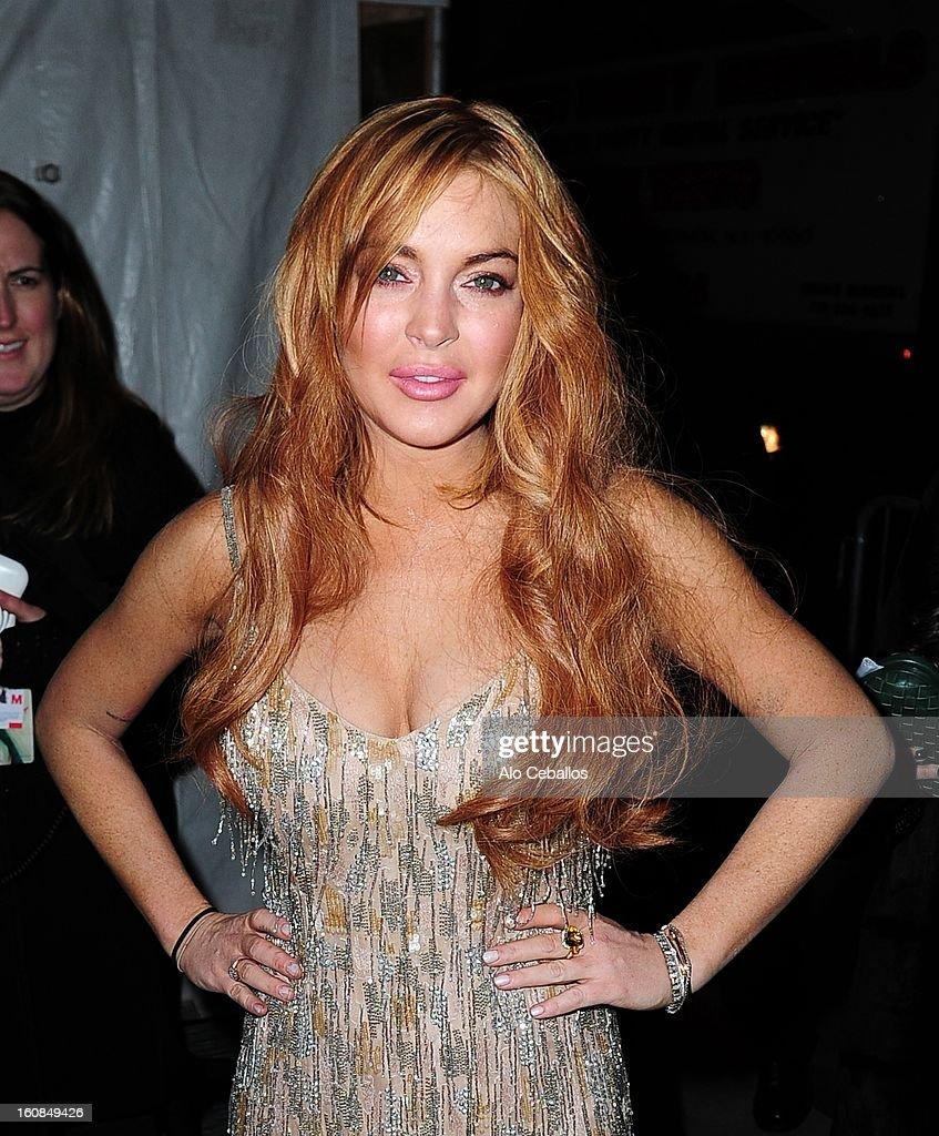 Lindsay Lohan sighting on February 6, 2013 in New York City.