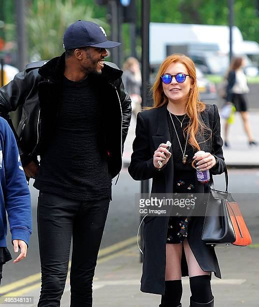 Lindsay Lohan strolls through Mayfair before heading to The Dorchester Hotel on June 2 2014 in London England