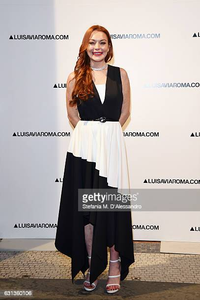 Lindsay Lohan walks the red carpet of Firenze4ever 14th Edition Party hosted by LuisaViaRoma on January 9 2017 in Florence Italy