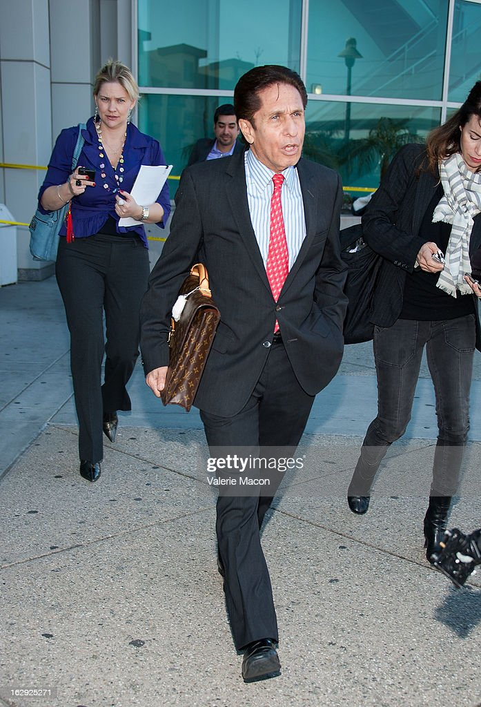 Lindsay Lohan's lawyer Mark Heller leaves the LAX C on March 1, 2013 in Los Angeles, California.