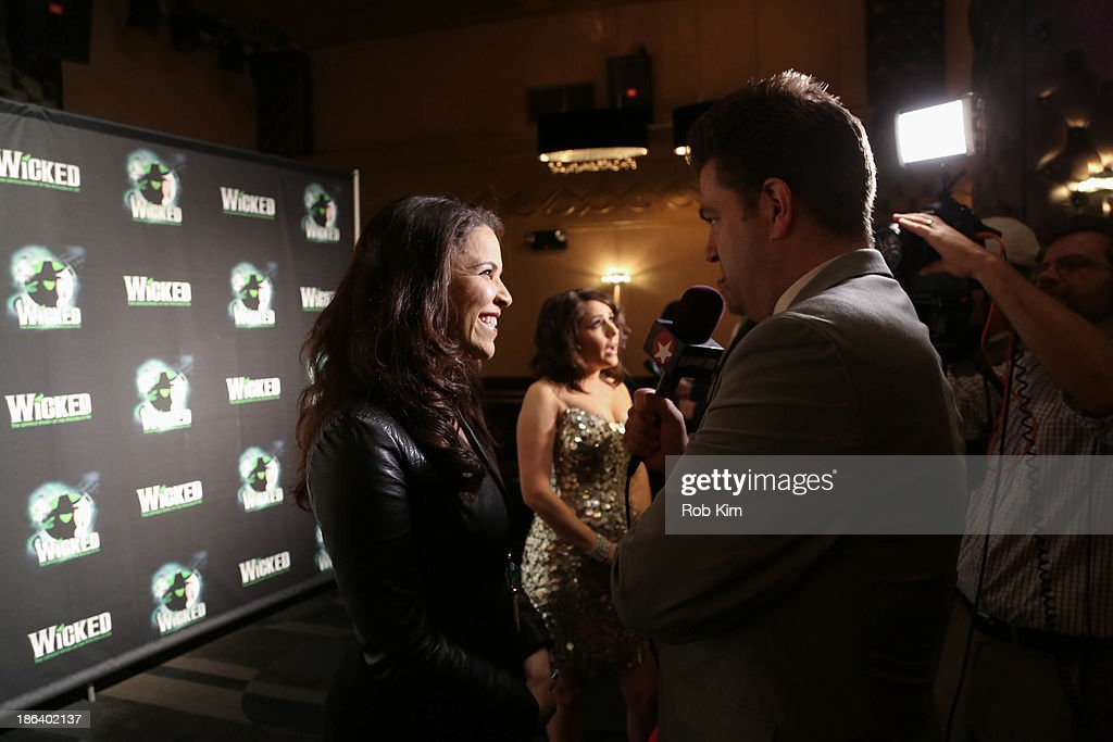 Lindsay Mendez (L) and Alli Mauzey attend the after party for the 'Wicked' 10th anniversary on Broadway at The Edison Ballroom on October 30, 2013 in New York City.