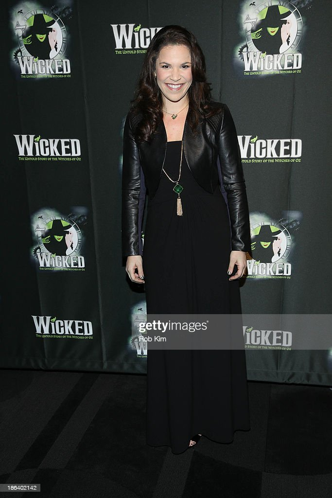 Lindsay Mendez attends the after party for the 'Wicked' 10th anniversary on Broadway at The Edison Ballroom on October 30, 2013 in New York City.