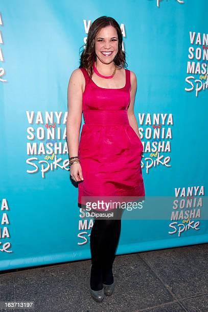 Lindsay Mendez attends the 'Vanya And Sonia And Masha And Spike' Broadway Opening Night at The Golden Theatre on March 14 2013 in New York City