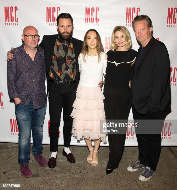Lindsay Posner Quincy DunnBaker Sue Jean Kim Jennifer Morrison and Matthew Perry attend the 'The End Of Longing' opening night after party at...