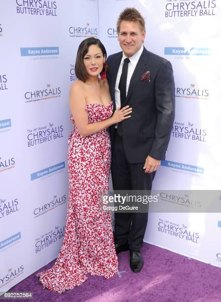 Lindsay Price and Curtis Stone arrive at the 16th Annual Chrysalis Butterfly Ball at a private residence on June 3 2017 in Brentwood California