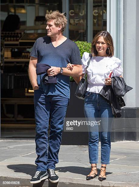 Lindsay Price and Curtis Stone seen walking handinhand on April 30 2016 in New York City