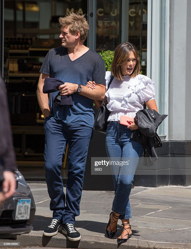 Lindsay Price and Curtis Stone seen walking hand-in-hand on April 30, 2016 in New York City.