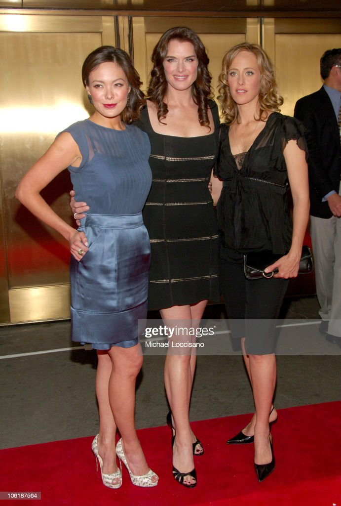 Lindsay Price Brooke Shields and Kim Raver during NBC 20072008 Primetime Preview Red Carpeti Upfronts Arrivals at Radio City Music Hall in New York...