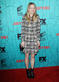 Lindsay Pulsipher arrives at FX's 'Justified' series finale premiere held at The Ricardo Montalban Theatre on April 13 2015 in Hollywood California