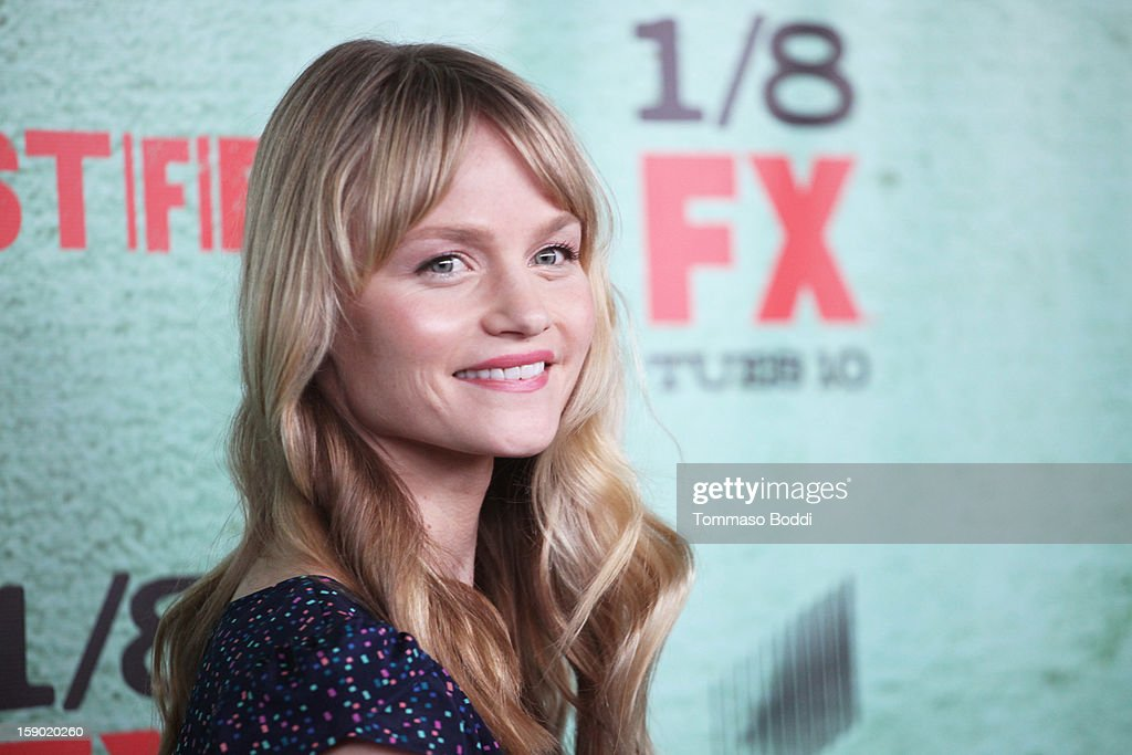 Lindsay Pulsipher attends the FX's 'Justified' season 4 premiere held at Paramount Theater on the Paramount Studios lot on January 5, 2013 in Hollywood, California.