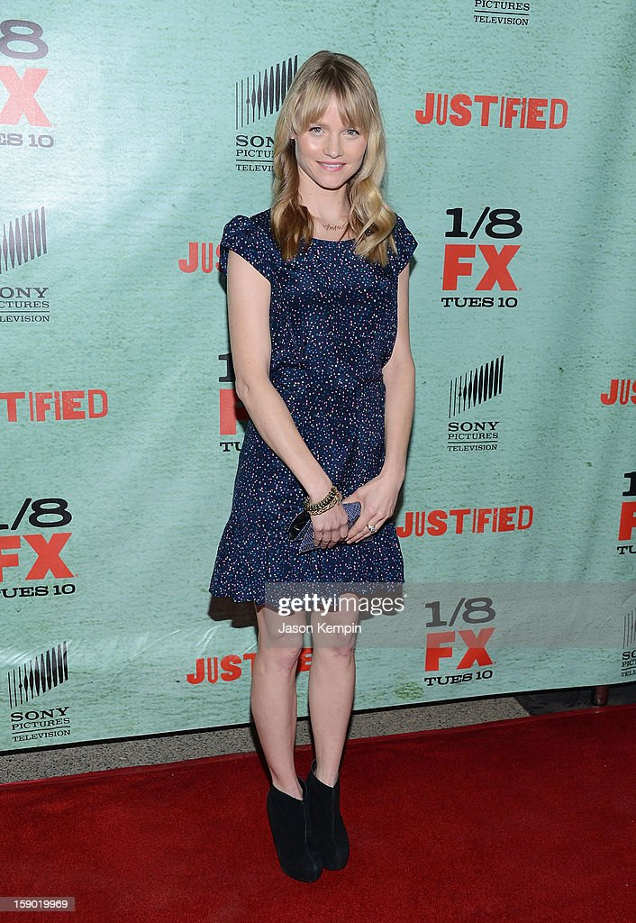 Lindsay Pulsipher attends the Premiere Of FX's 'Justified' Season 4 at Paramount Theater on the Paramount Studios lot on January 5, 2013 in Hollywood, California.