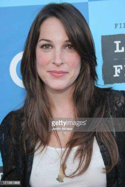 Lindsay Sloane during 2006 Los Angeles Film Festival 'The TV Set' Screening at The Majestic Crest Theatre in Westwood California United States