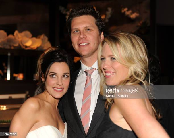 Lindsay Sloane Hayes MacArthur and Jessica St Clair attend Maxim's April cover party at Planet Hollywood Resort and Casino on March 10 2010 in Las...