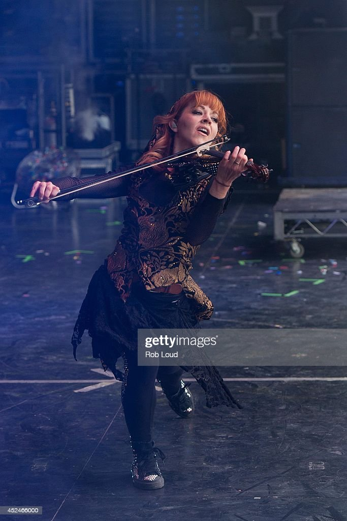 Lindsay Stirling performs at Pemberton Music Festival on July 20, 2014 in Pemberton, Canada.