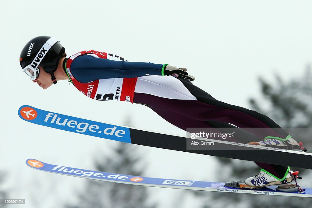 Lindsay Van of the USA competes during the FIS Ski Jumping World Cup Women's HS108 on January 13, 2013 in Titisee-Neustadt, Germany.