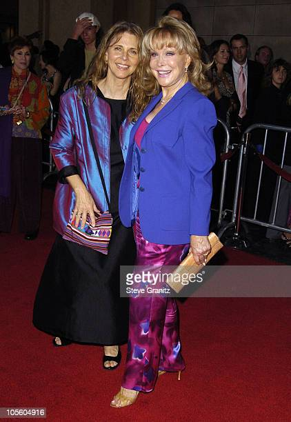 Lindsay Wagner and Barbara Eden during 'The Ten Commandments' Opening Night at Kodak Theatre in Los Angeles CA United States