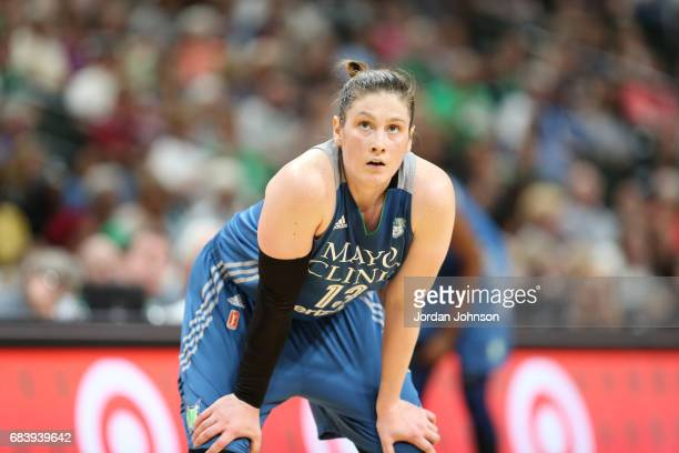 Lindsay Whalen of the Minnesota Lynx looks on during a game against the Chicago Sky on May 14 2017 at Xcel Energy Center in St Paul Minnesota NOTE TO...