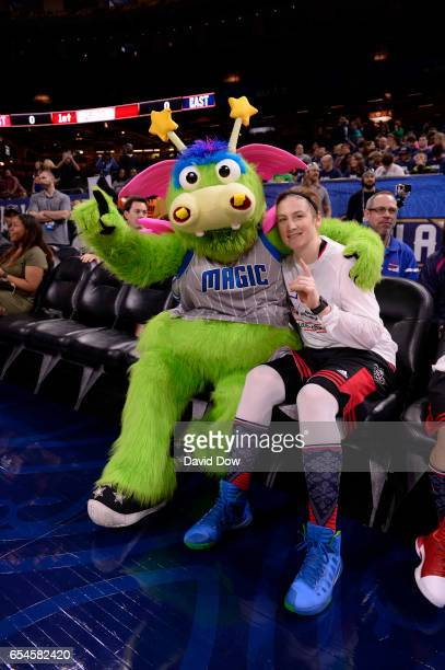 Lindsay Whalen of the Minnesota Lynx poses for a photo before the NBA Cares Special Olympics Unified Sports Game as part of 2017 AllStar Weekend at...