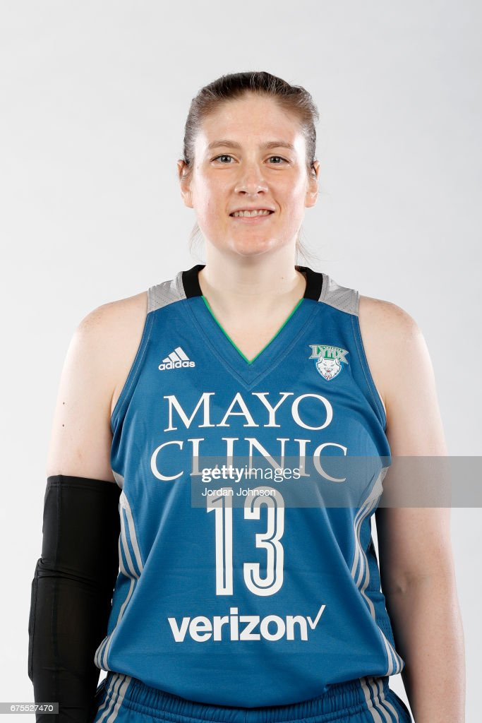 Lindsay Whalen #13 of the Minnesota Lynx poses for portraits during 2017 Media Day on May 1, 2017 at the Minnesota Timberwolves and Lynx Courts at Mayo Clinic Square in Minneapolis, Minnesota.
