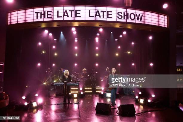Lindsey Buckingham Christine McVie perform during 'The Late Late Show with James Corden' Thursday October 12 2017 On The CBS Television Network