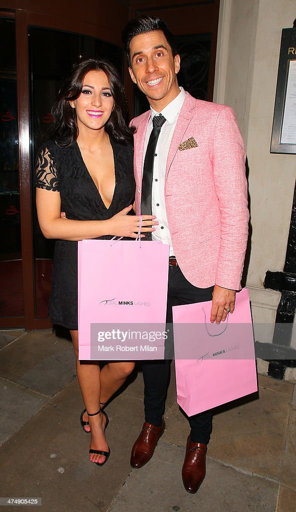 Lindsey Cole and Russell Kane attending the Total Minx Launch Party on February 25, 2014 in London, England.