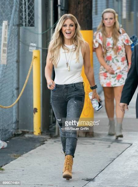Lindsey Ell is seen at 'Jimmy Kimmel Live' on June 20 2017 in Los Angeles California
