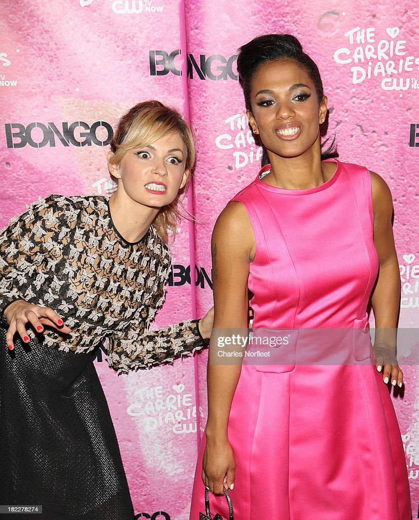 Lindsey Gort (L) and Freema Agyman attend 'The Carrie Diaries' Season Two Premiere Party hosted By Bongo September 28, 2013 in New York, United States.