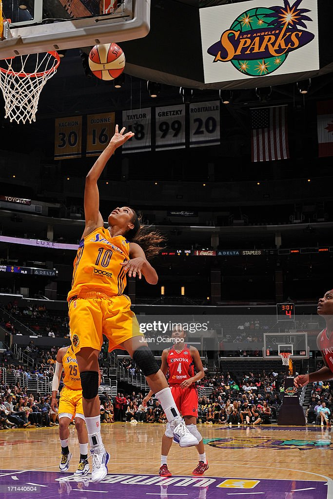 <a gi-track='captionPersonalityLinkClicked' href=/galleries/search?phrase=Lindsey+Harding&family=editorial&specificpeople=704302 ng-click='$event.stopPropagation()'>Lindsey Harding</a> #10 of the Los Angeles Sparks drives to the basket against the Washington Mystics at Staples Center on June 23, 2013 in Los Angeles, California.