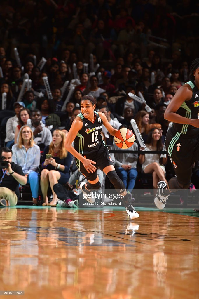 <a gi-track='captionPersonalityLinkClicked' href=/galleries/search?phrase=Lindsey+Harding&family=editorial&specificpeople=704302 ng-click='$event.stopPropagation()'>Lindsey Harding</a> #12 of the New York Liberty handles the ball against the Atlanta Dream on May 24, 2016 at Madison Square Garden in New York City, New York.