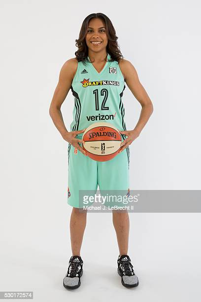 Lindsey Harding of the New York Liberty poses for a portrait during media day on May 09 2016 at Madison Square Garden Training Center in Tarrytown...