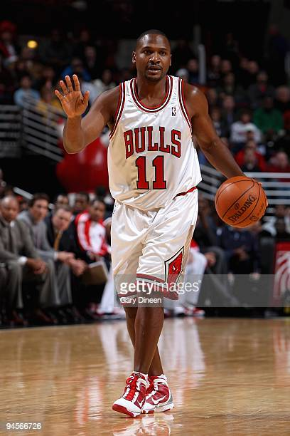 Lindsey Hunter of the Chicago Bulls handles the ball during the game against the Detroit Pistons at the United Center on December 2 2009 in Chicago...