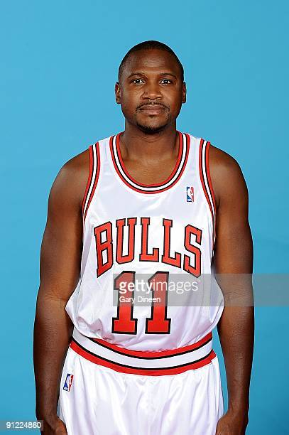 Lindsey Hunter of the Chicago Bulls poses for a portrait during 2009 NBA Media Day on September 25 3009 at the the Berto Center in Deerfield Illinois...